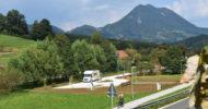 Parkirišče za avtodom pod Donačko goro ob kolesarski poti