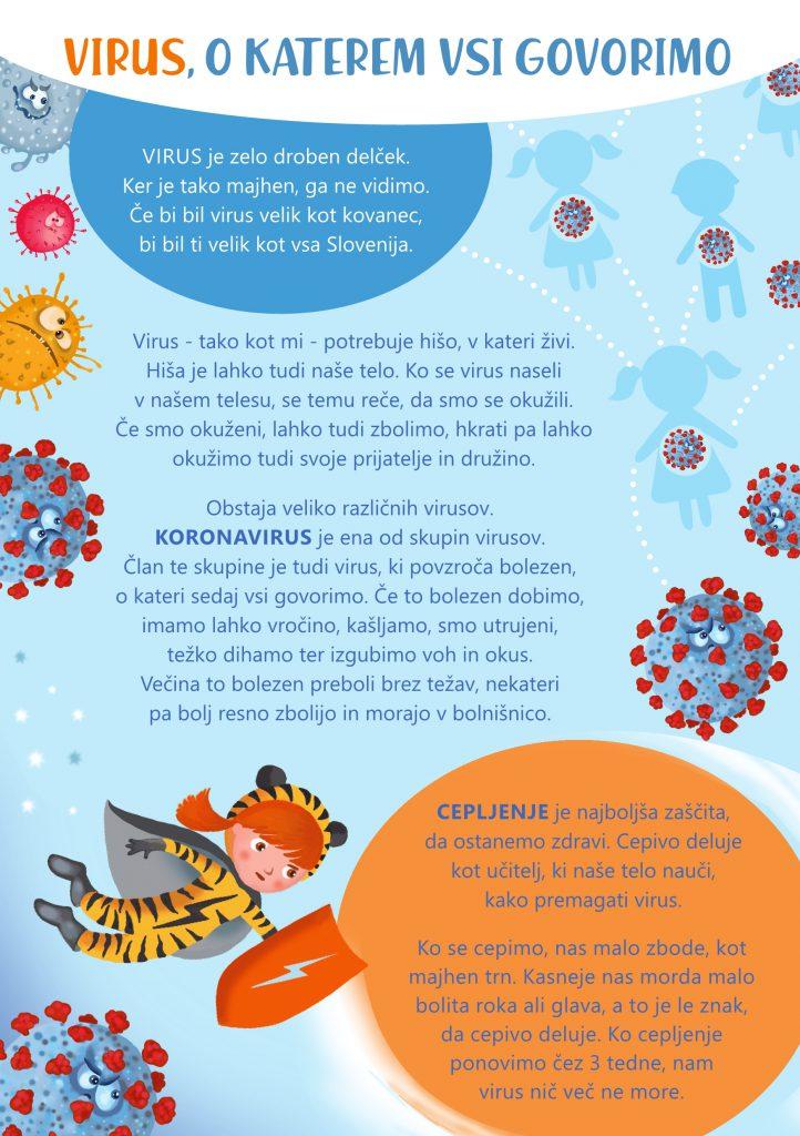 Letak o koronavirusu za otroke in starše